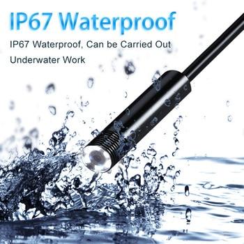 アンドロイド PC Typec C/USB HD 1200 720p 内視鏡カメラ半硬質ケーブル Led 照明防水内視鏡検査カメラビデオカメラボアスコープ -