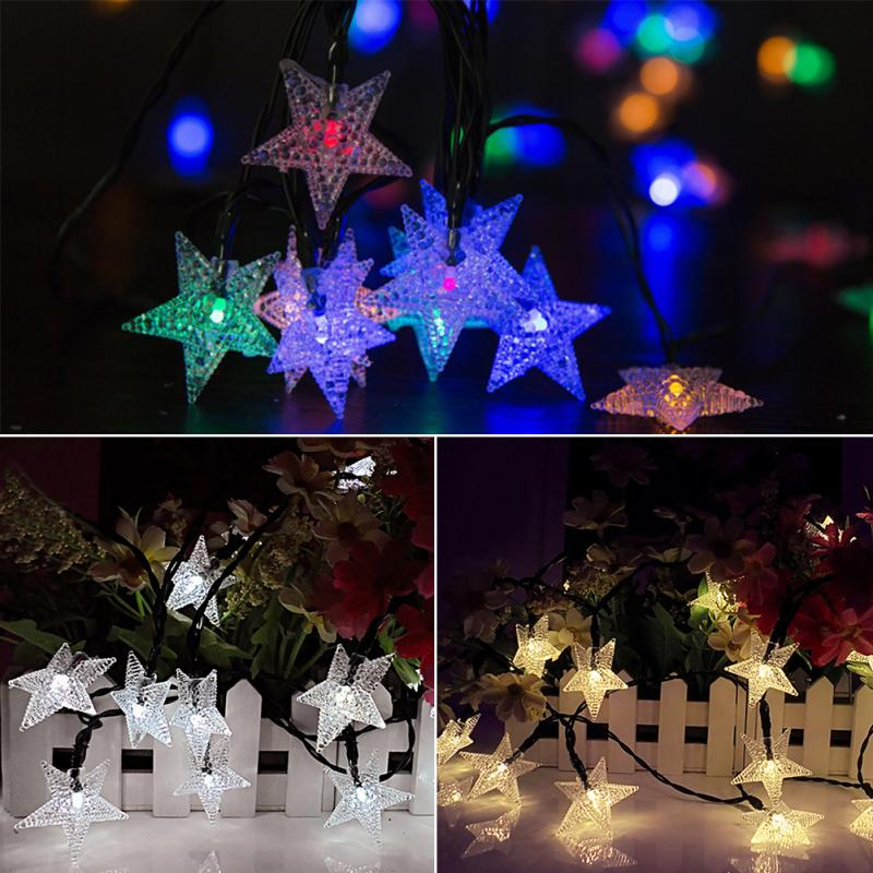 Solar Star Light String 20led Lanterns Christmas Day Garden Decorative Lights Outdoor Waterproof In Lighting Strings From On