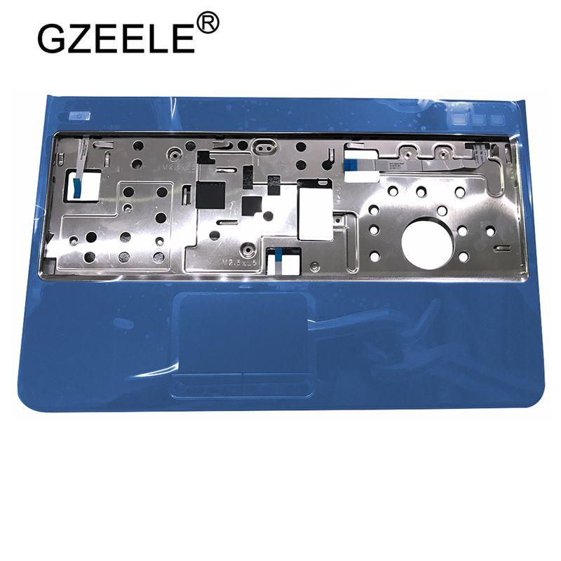 GZEELE NEW Palmrest Top Case For DELL Inspiron 15R N5110 M5110 M511R Upper Cover Blue Color Keyboard Bezel