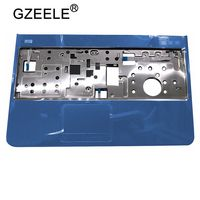 GZEELE NEW Palmrest top case for DELL Inspiron 15R N5110 M5110 M511R upper cover blue color keyboard bezel