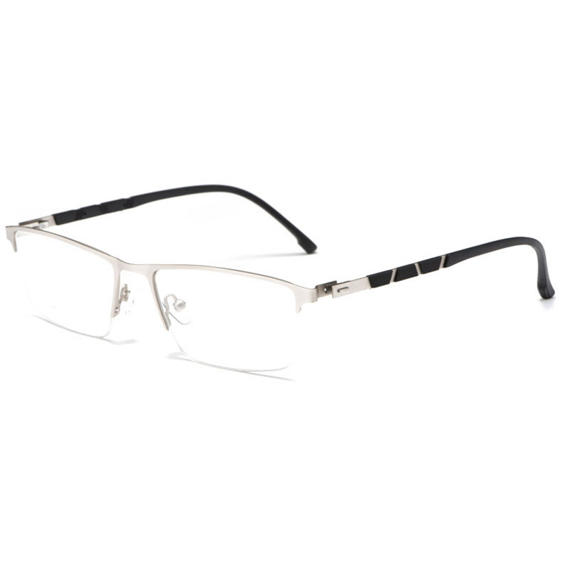 Image 5 - Reven Jate P9859 Optical Business Titanium Eyeglasses Frame For Men Eyewear Semi Rimless Glasses with 4 Optional Colors-in Men's Eyewear Frames from Apparel Accessories