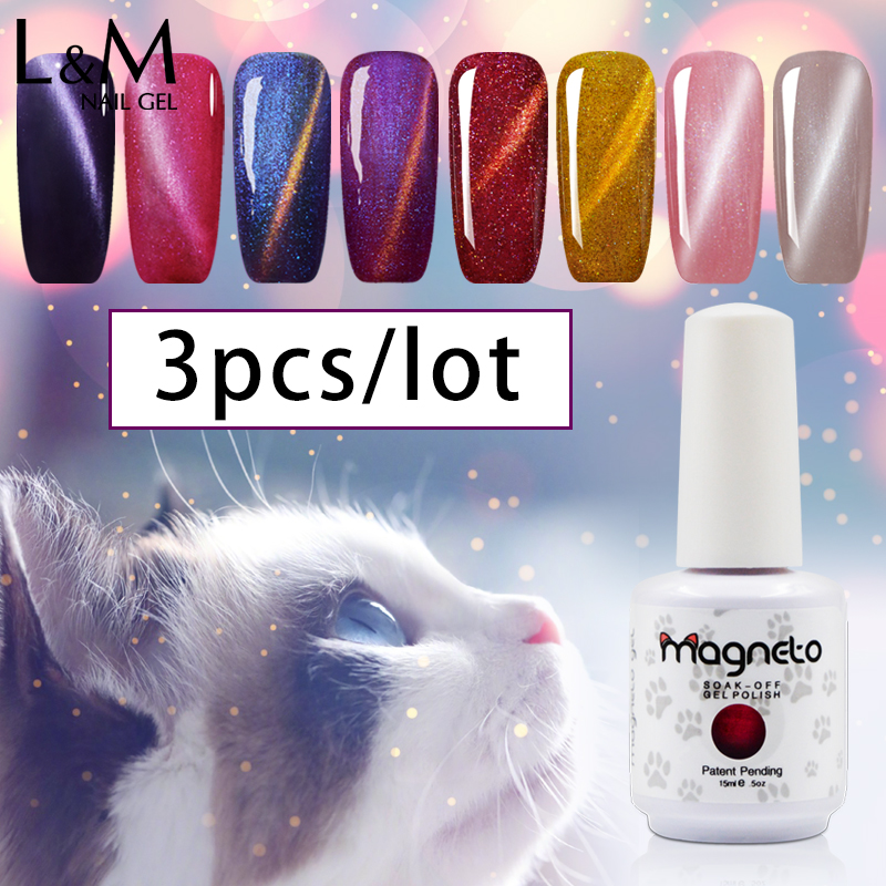 Pick 3 Color Cat Eyes Gel Unghie Gelpolish Smoarme Uv Gel Polish 30 - Manichiură