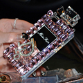 Colhedor de luxo frasco de perfume de diamante diamante strass bling do caso fundas para iphone 6 s 6 7 Plus 5S 5 SE 5C 4S 4 coque capa