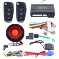 One way car alarm system with remote engine start stop central door locking automation shock trigger alarm universal version