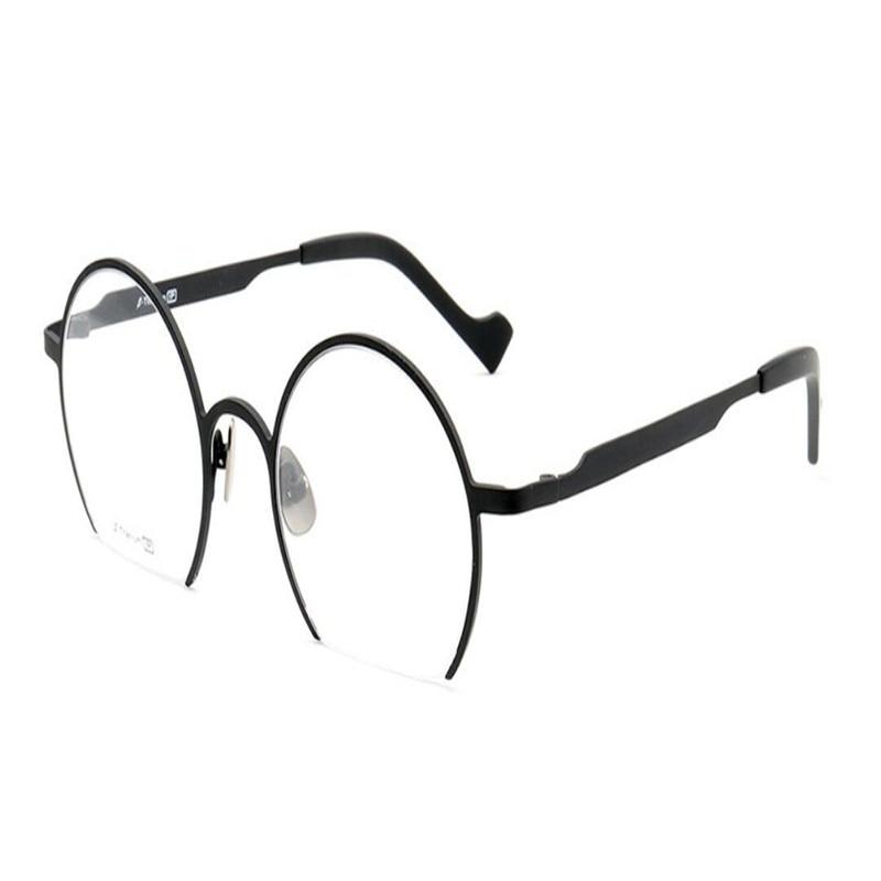 Asphärische Mode Unisex Mongoten Goggle Rahmen Brillen Anti Optische Objektiv titanium Rand Lesen Schwarz müdigkeit B Halb WfY1n5qFrf