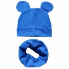цена на Boys Girls Cotton Solid Cap Soft Warm Cartoon Children Hat Cute Ears Design Spring Autumn Baby Kids Skullies Beanies Accessories