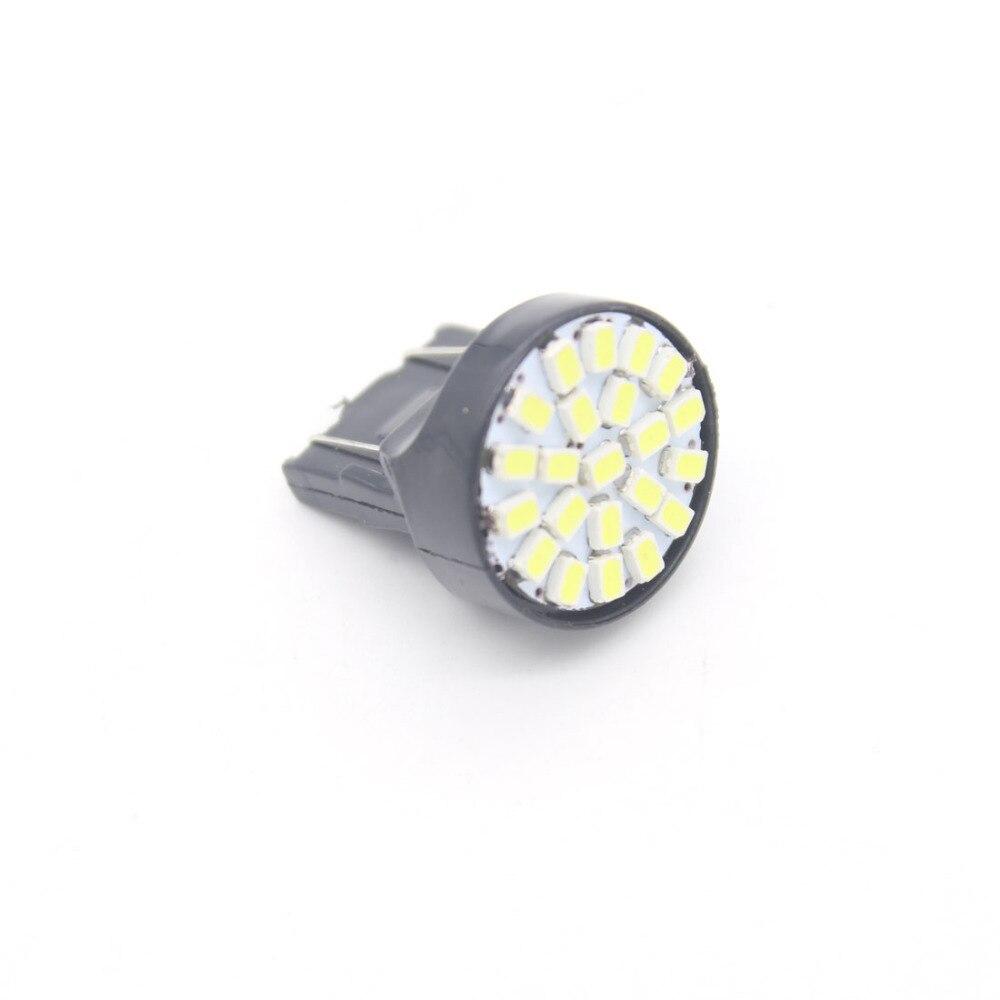 Free shipping 1X T20 22 LED 1206 3020 SMD Light Bulbs 7443  direction indicator lamp backup light white 12V