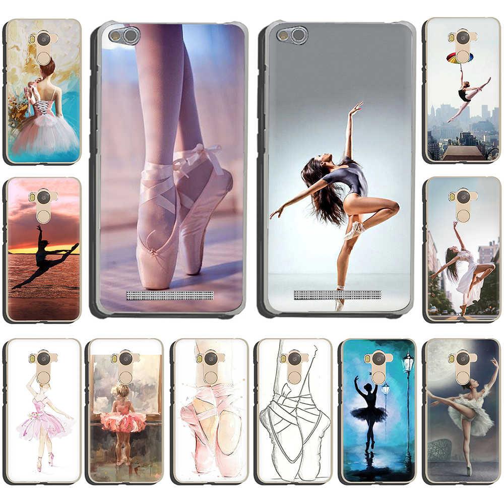 Balo Nhảy Cô Gái Múa Ba Lê Giày Cứng Bao Bọc Điện Thoại Ốp Lưng Cho Redmi 5 6 5Plus K20 Pro S2 7 8A Note 4 4X 5 6 7 8 Pro