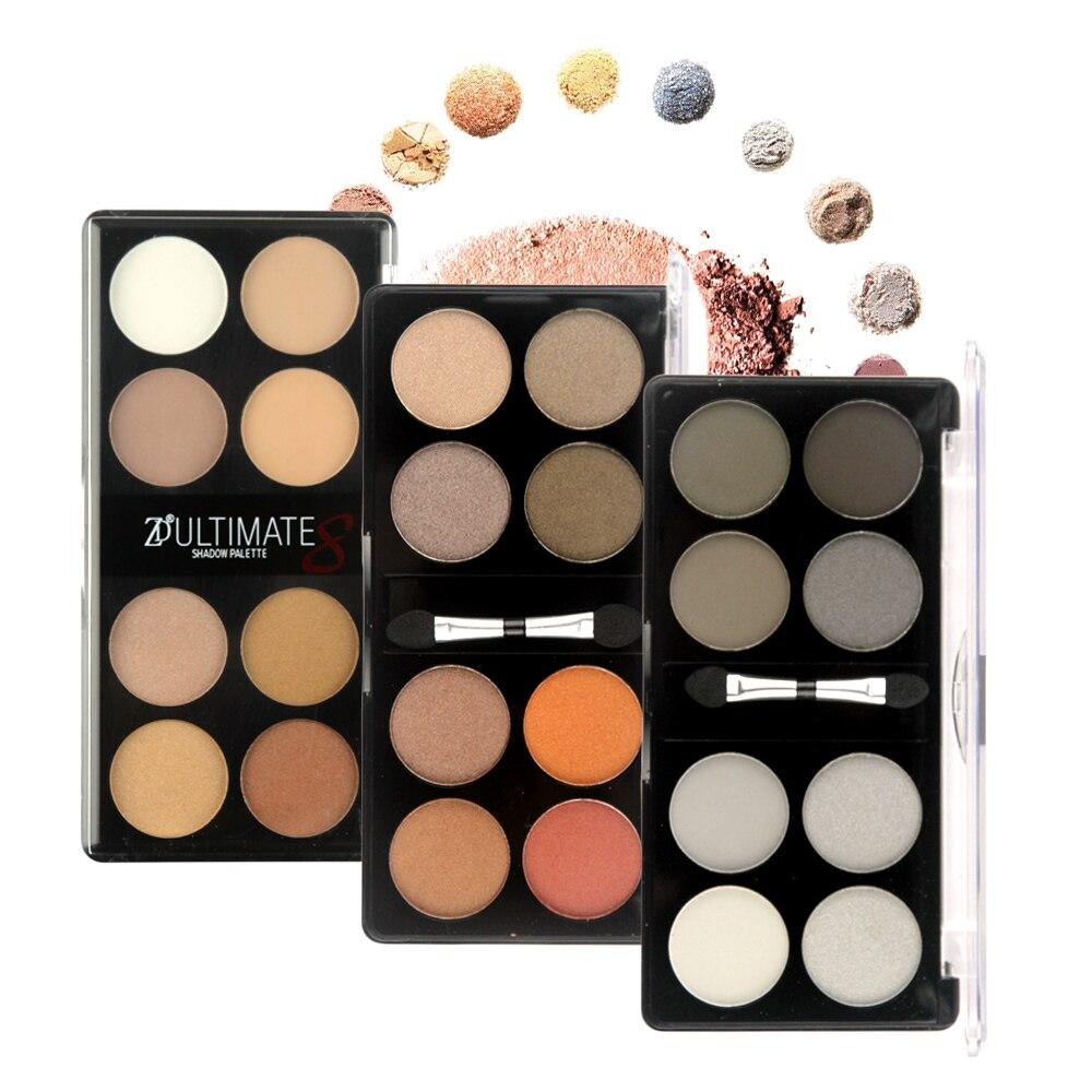 ZD New 3Pcs Eye Makeup Earth Colors Palette Natural Make