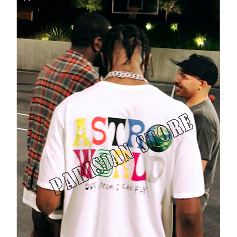 TRAVIS SCOTT ASTROWORLD look mom i can fly CONCERT MERCH Summer men's and women's cotton t-shirts hip hop Street costumes(China)