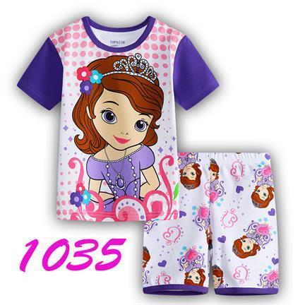New summer Baby Sleepwears spider-man Suits Boys Pajamas Children Pyjamas Girls Cartoon short sleeve Pijamas