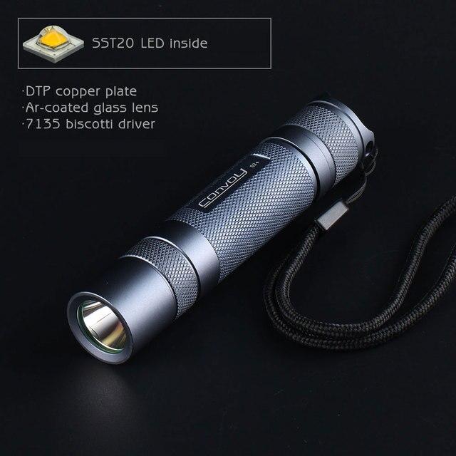 Серый конвой S2 + с luminus SST20, печатные платы с прямым отводом тепла (DTP медную пластину, ar, en-оптическое стекло с покрытием, 7135 бисквитом с прошивкой