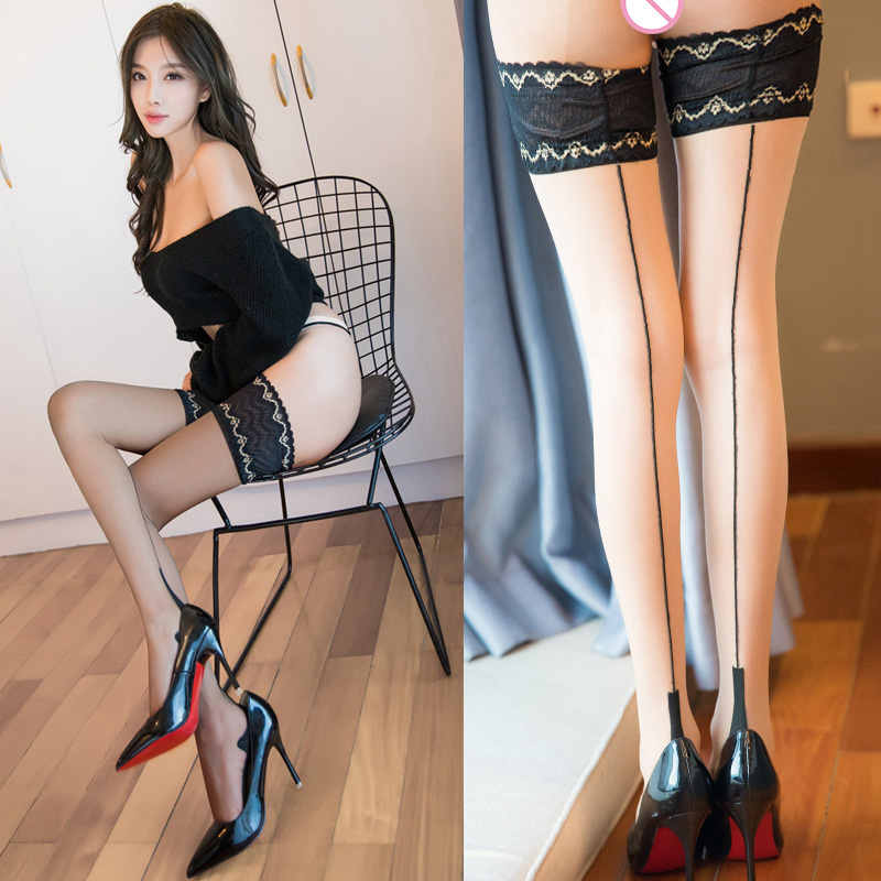 Lace Stockings High Heels