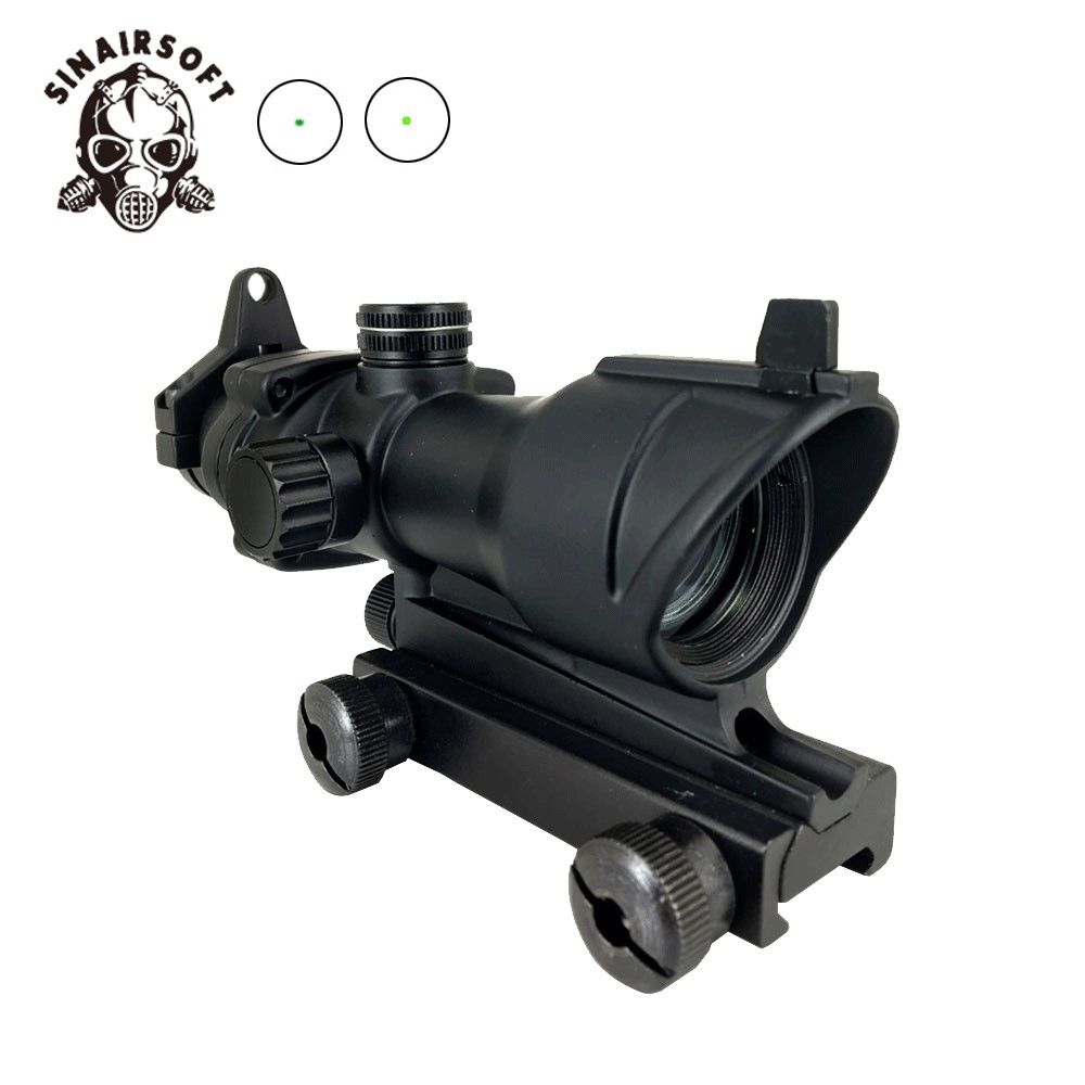 SINAIRSOFT Tactical Illumination 1x32 Red/Green Dot Sight W/Iron Sights With Picatinny Rail  For Rifle Scope Airsoft Hunting