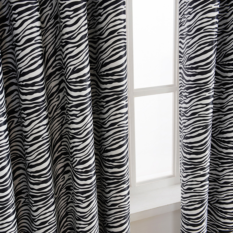 Topfinel black and white zebra print curtain for living room bedroom blackout curtains drapes wide style animal panel drapery in curtains from home garden