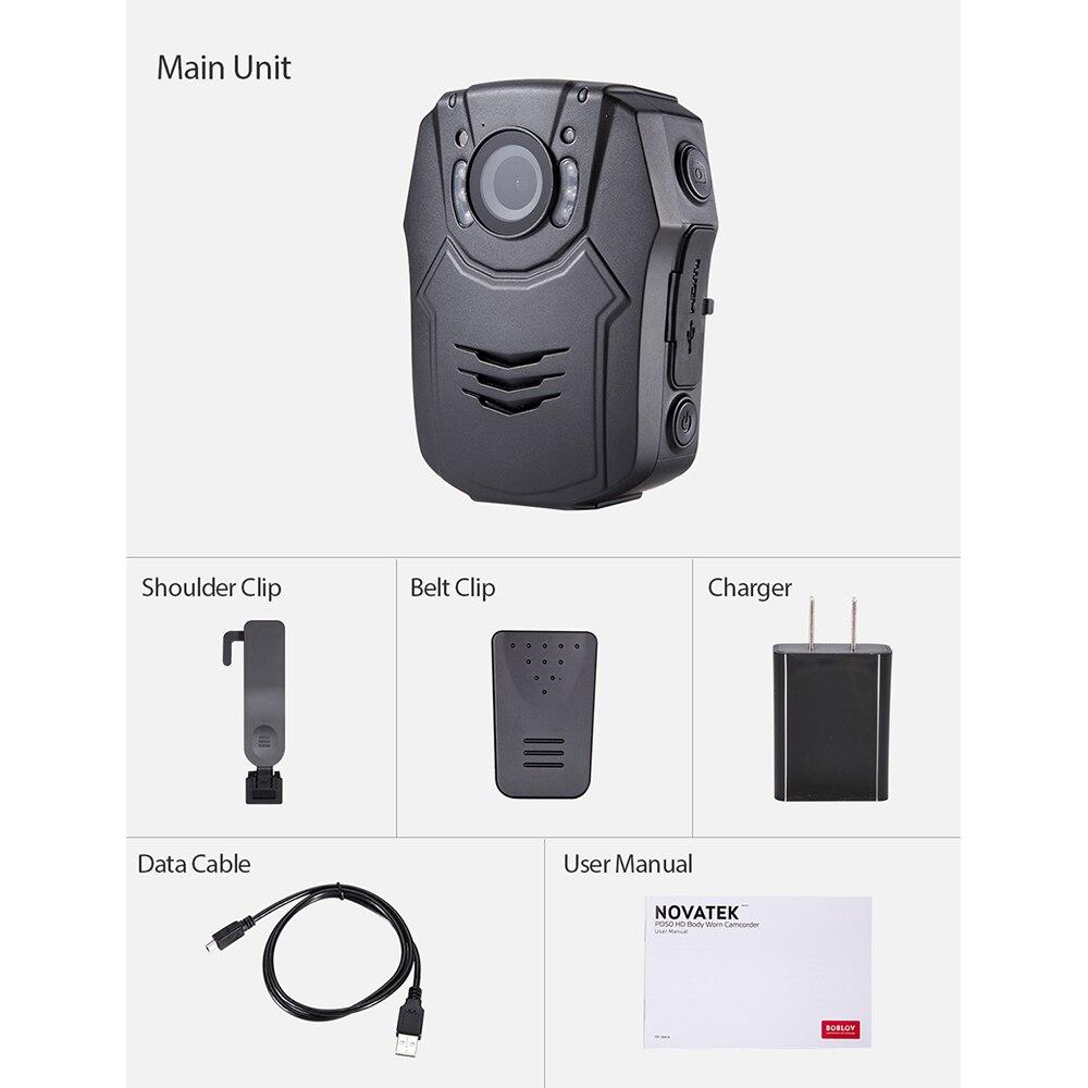 Новая камера BOBLOV 32 GB/64 GB HD 1296 P, камера Novatek 96658, Полицейская безопасность, ИК Ночное Видение, 32 МП, видео, быстрая зарядка, камера - 2