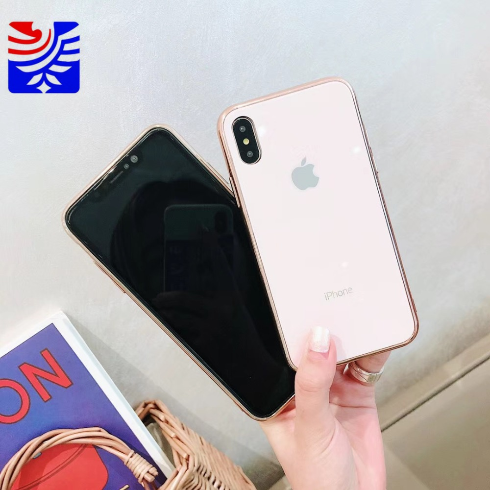 PEIPENG Luxury made of electroplated glass Anti-fall Phone Cases For iphone 6 6S 7 8 Plus X Xs Max Christmas gift Girl Simple and stylish02