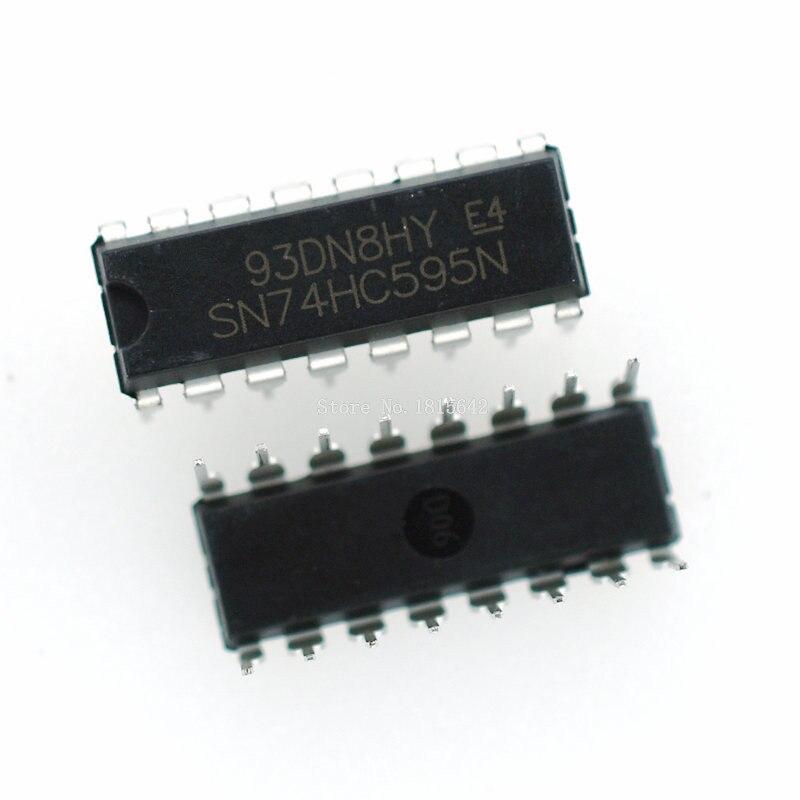 10PCS/LOT 74HC595 74HC595N SN74HC595 SN74HC595N DIP IC DIP-14 New