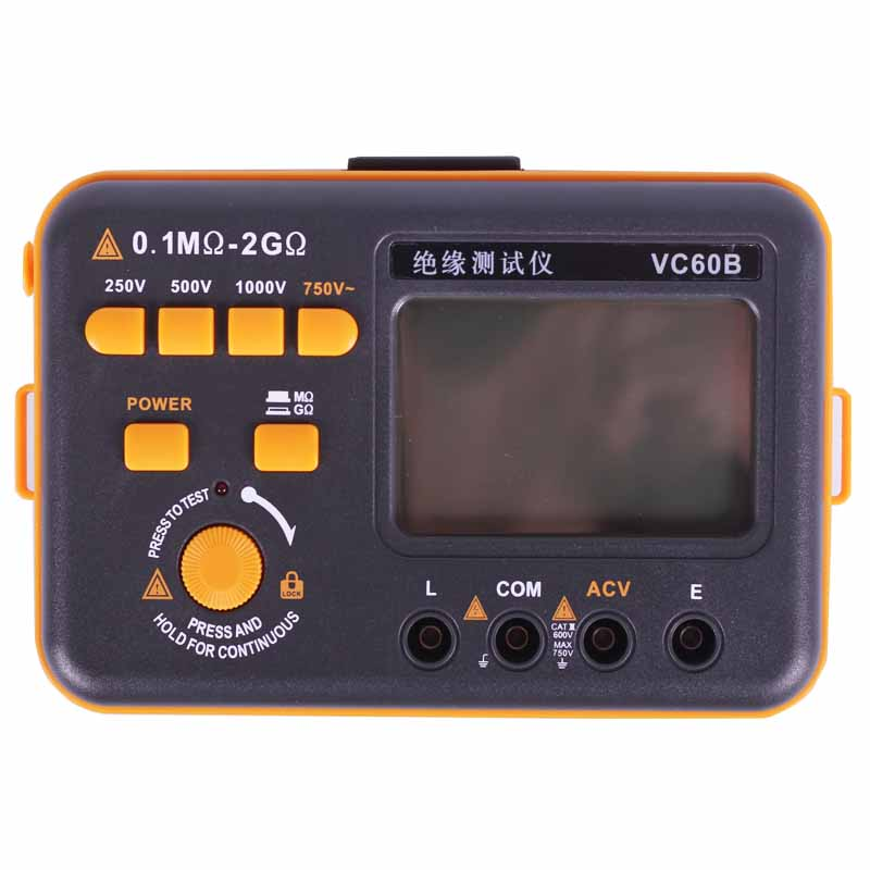 E+ERNE VC60B Digital Insulation Resistance Tester Megger MegOhm Meter 250V 500V 1000V High Voltage And Short Circuit Input Alarm as907a digital insulation tester megger with voltage range 500v 1000v 2500v