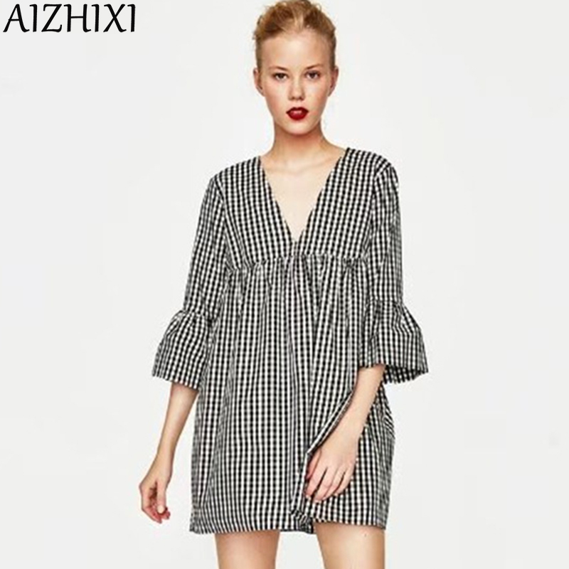 AIZHIXI Casual Summer Women Sexy Backless Ladies Dresses