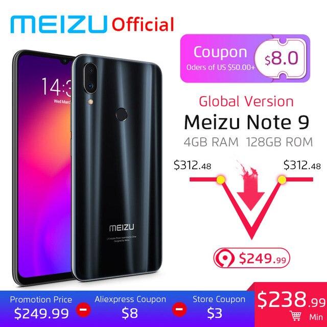 Pre-Sales Global Version Meizu Note 9 4GB 128GB Smart Phone Snapdragon 675 Octa Core 6.2 inch 48MP Rear Camera