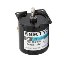 Синхронный редуктор с постоянным магнитом 68KTYZ 68 KTYZ, 28 Вт, 220 В переменного тока, 1 об/мин, 2,5 об/мин, 5 об/мин, 10 об/мин, 15 об/мин, 20 об/мин, 30 об/мин, 50 об/мин, маленький двигатель