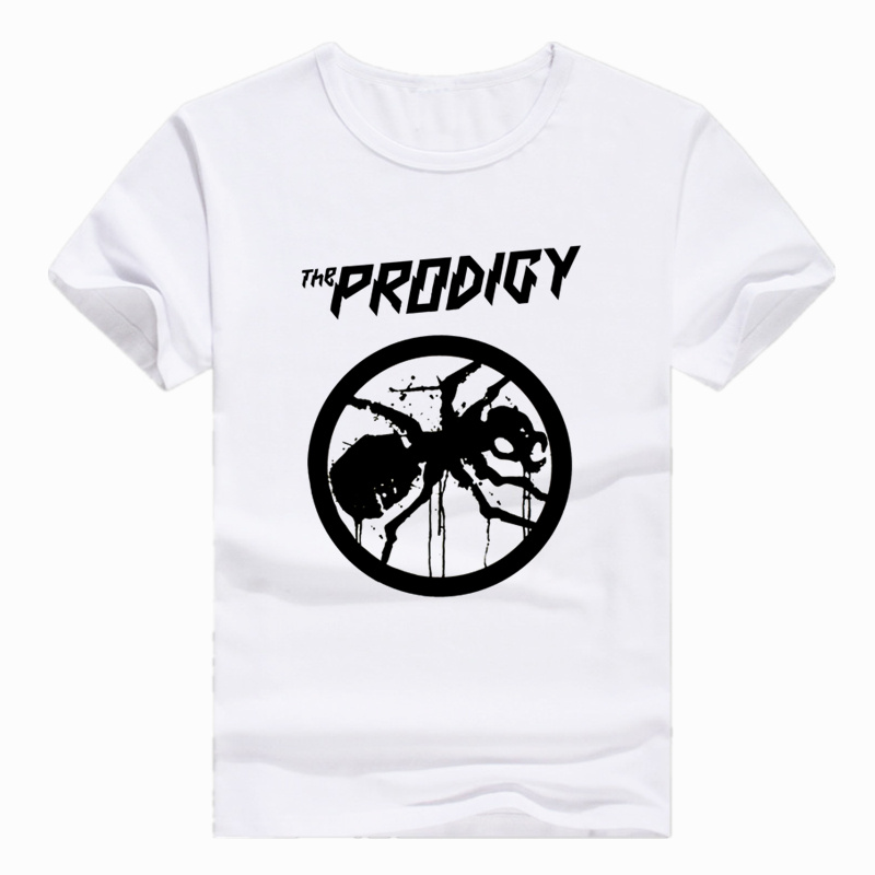 Asian Size Print THE PRODIGY EXPERIENCE THE PRODIGY Metal Rock Band T-shirt Short Sleeve O-Neck Tshirt For Men Women HCP733