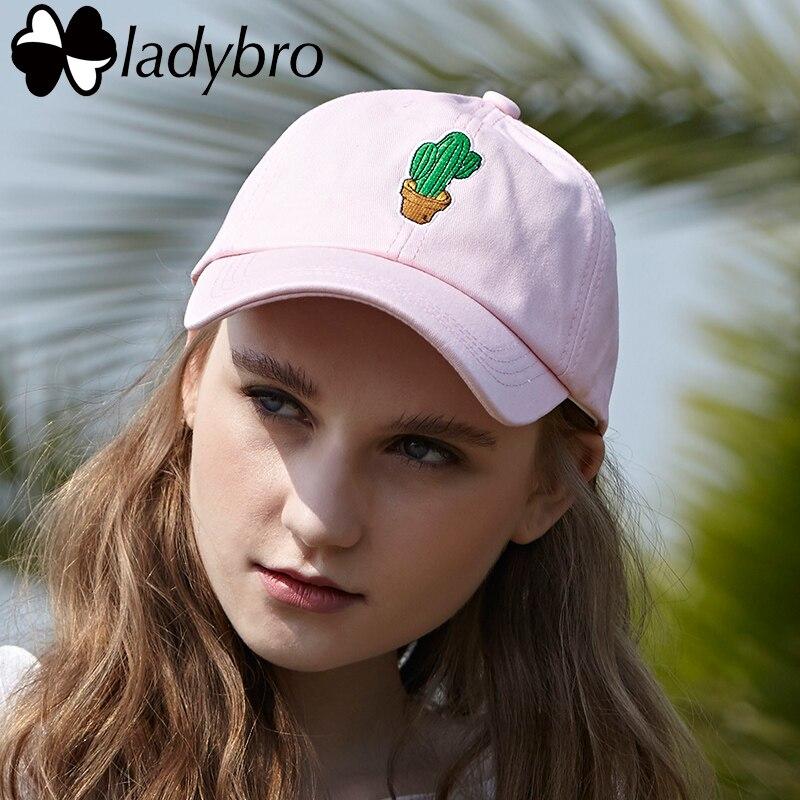 Ladybro Cactus Embroidery Fashion Women Hat Caps