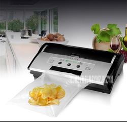 220V/150W vacuum packaging machine small food inflatable commercial wet and dry automatic compression sealing machine