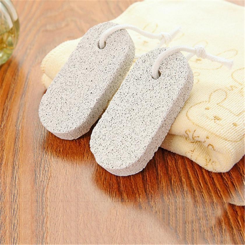 Cuidado de los pies piel dura removedor de cutícula pedicura pie baño piedra pómez Natural pie piel Scruber herramienta limpiador G0226