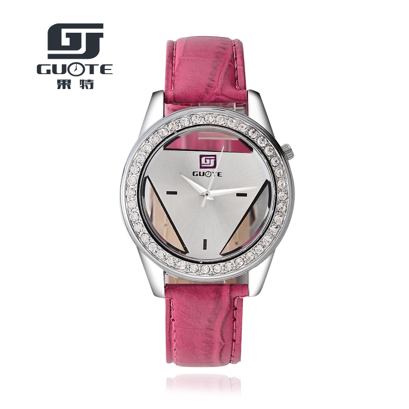 2020 Fashion Leather Strap Watch Brand GUOTE Unisex Watches Men Quartz Women Dress Watch Sports Military Hollow Wristwatch Saat