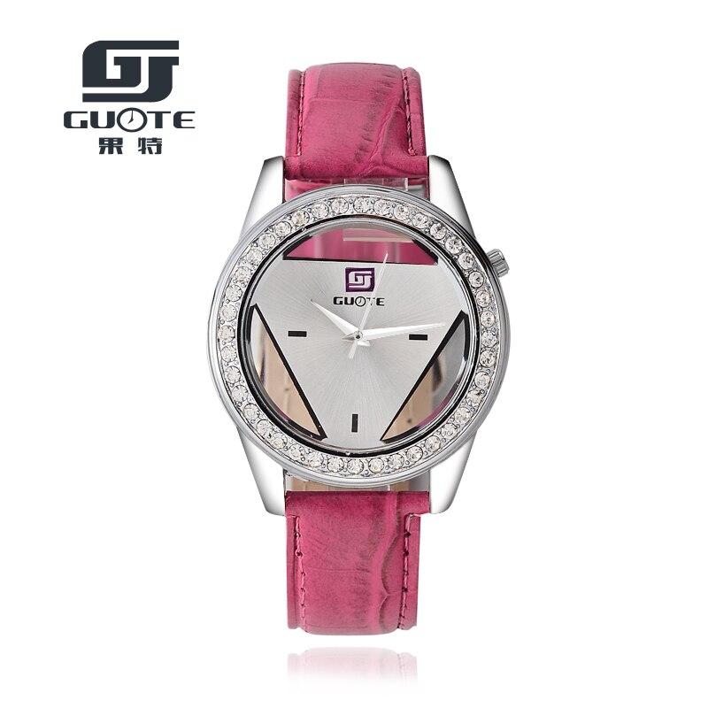 2020 Fashion Leather Strap Watch Brand GUOTE Unisex Watches Men Quartz Women Dress Watch Sports Military Hollow Wristwatch Saat