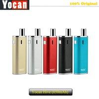 100% D'origine Yocan Ruche Starter Kit Vaporisateur E Cigarette Kit & 2 atomiseurs 650 mAh Batterie Boîte Mod Stylo Vaporisateur Mécanique Kit vs eGo