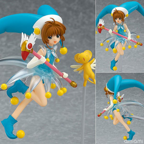 1set 14CM pvc Japanese anime figure Sakura Kinomoto Battle Costume ver Cardcaptor Sakura figfix 008 action figure collectible nendoroid card captor sakura li syaoran 763 kinomoto sakura 400 pvc action figure collectible model toy doll