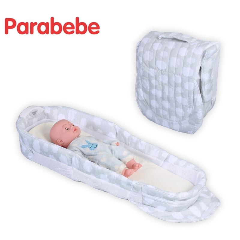 Lit de voyage pliable berceau pour nouveau-né berceau Portable enfants lit pour bébé enfants dormir voyage lit pliant bébé berceau - 4