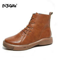 DIJIGIRLS New Women Winter Boots Warm Martin Boots Fashion Shoes Women Fashion Student Ankle Boots