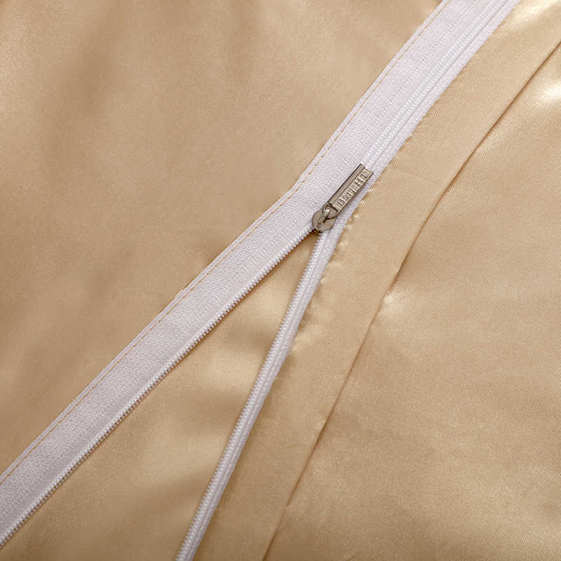 Light Tan Soild Bedding Sets King Queen Size Satin Silk Summer Used Single Bed Linen China Luxury Bedding Kit Duvet Cover Set