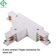 1m LED Track Light 4-wire 3 Loops Rail Lighting Fixture for track lighting Universal Rails Lamp 1 meter