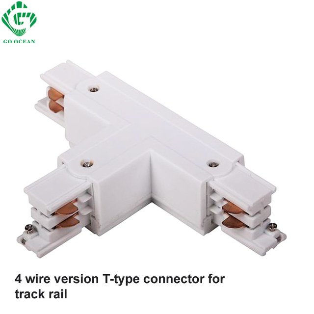 Aliexpress Com Buy Go Ocean Track Rail Connector 4 Wire 3 Loops Global Track System 3 Phase Circuit Three Way Connectors Rail Lighting Aluminium