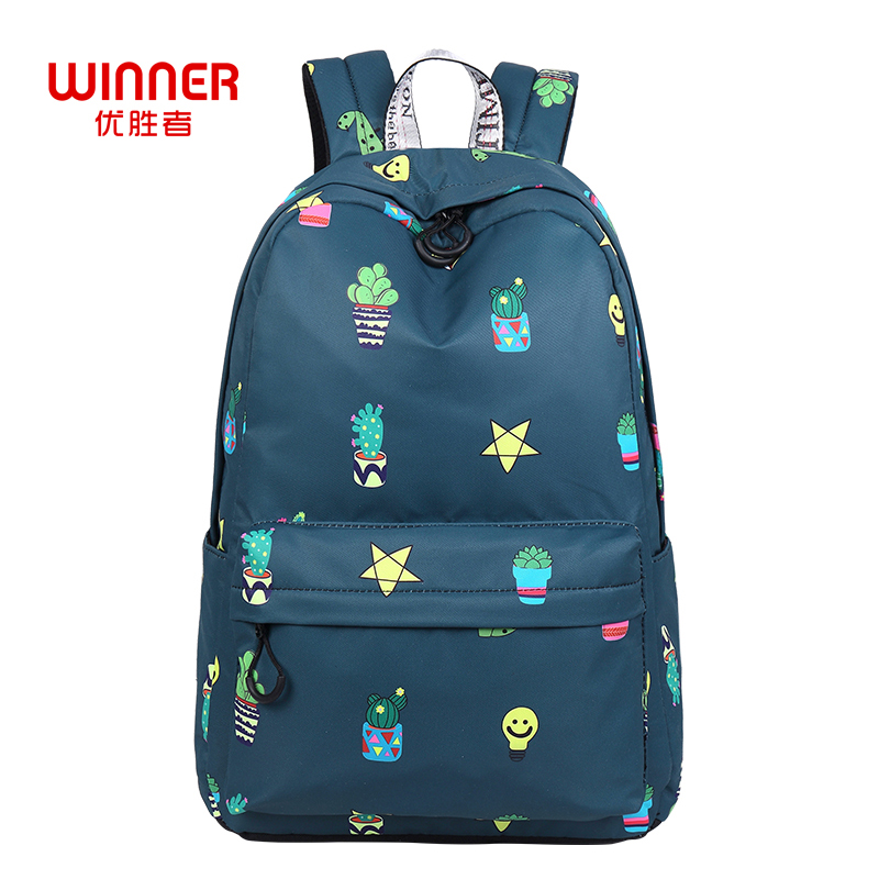 WINNER Daily Women Backpack For School Teenager Girls Flowers Printing Travel Backpacks Casual Floral Backpack Mochila 2018