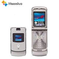 100% хорошего качества оригинальные World Версия флип четырехдиапазонный с GSM Motorola Razr V3 мобильного телефона один год гарантии Бесплатная достав...