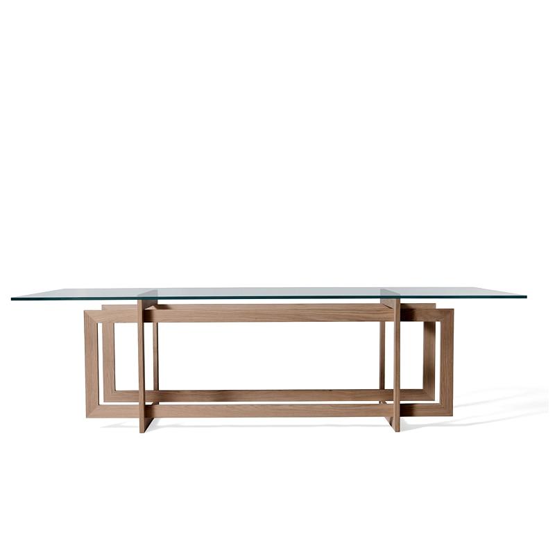 Simple Minimalist Dining Set: Direct Modern Minimalist 6 Seater Glass Dining Table Sets