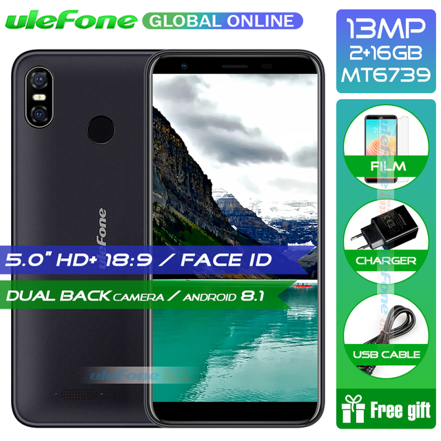 Ulefone S9 Pro 5.5 inch HD+ Smartphone Android 8.1 MTK6739 Quad Core 2GB RAM 16GB ROM 13MP+5MP Dual Rear Cameras 4G Mobile Phone