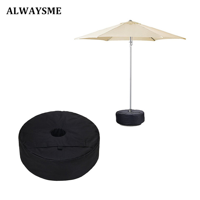 ALWAYSME 46x15CM Hole 8CM Patio Umbrella Bases Weight Bag With Large  Opening For Sand Ergonomic Stand