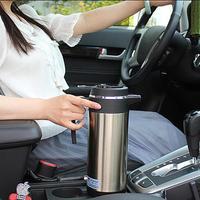 1200ML 12V/24V Car Cigarette Lighter Electric Heated Kettle Car Bottle Thermal Mug Cup Boiling Water Car Cup Hot Water Warmer