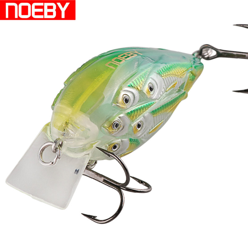 Noeby Crankbait Fishing Lure 6cm12.5g Floating Laser Hard Bait VMC Hook Isca Artificial Para Pesca Leurre Peche Carp Fish Tackle noeby insect bait hard lures crankbait treble hook 1 pcs 28mm 2g fishing tackle lure