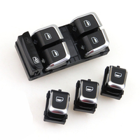 READXT Car Chrome Electric Master Window Control Switch Button+3X Single Window Glass Switch For A4 S4 B8 A4 Allroad Q5
