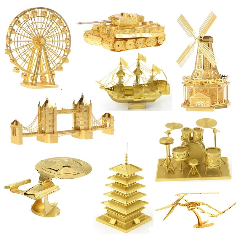 3D DIY metal Jigsaw Puzzle Toys