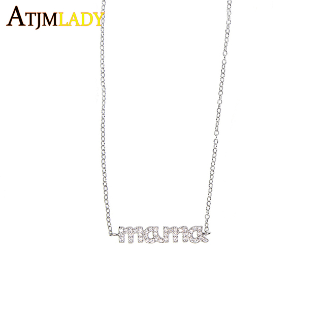 Maxi Necklace Rushed Sale Collares Collier 2018 Unique Thin Dainty Mama Charm Chain 100% 925 Mother Day Brithday Gift Necklace