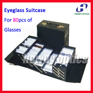 A80 Foldable Eyeglass Eyewear Optical Frame Reading Glasses Suitcase Display case Hold 80pcs of glasses